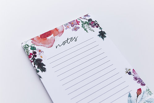 Floral watercolour notepad | Doodling Faith