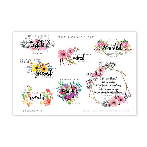 Printable for Bible journaling - The Holy Spirit can | Doodling Faith