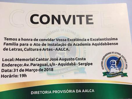 Instalação da Academia Aquidabãense de Letras, Cultura e Artes - AALCA