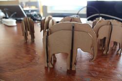 Lasercut-olifant