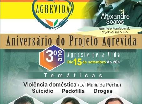 Live: Aniversário do Projeto AGREVIDA