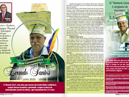 """Revista Atração - Domingos Pascoal rende homenagem a Evando Santos o """"Homem Livro"""""""