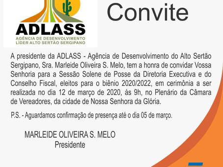 ADLASS realiza sessão solene de posse de nova Diretoria Executiva e Conselho Fiscal