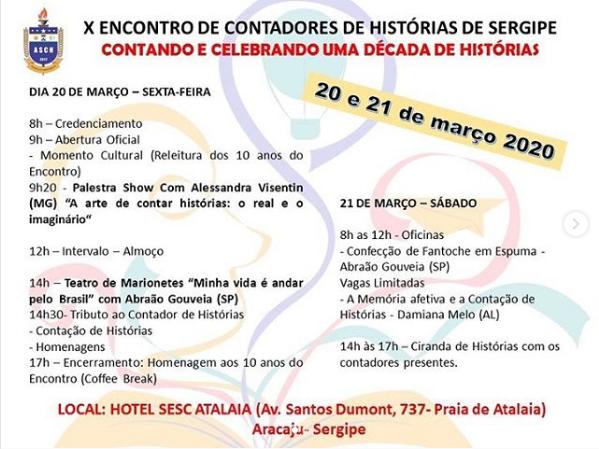 X Encontro de Contadores de Histórias de Sergipe