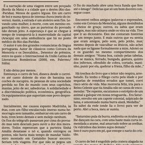 Uma jornada como tantas, de Francisco Dantas - Por Antônio FJ Saracura
