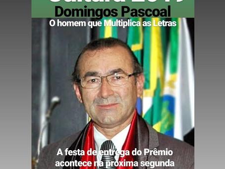 Domingos Pascoal recebe prêmio Cultura 2019
