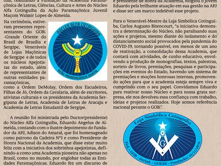 Fundada em Sergipe Academia de Letras de Entidades Paramaçônicas