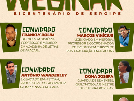 WEBINAR Bicentenário de Sergipe