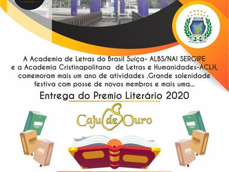 Entrega do Prêmio Literário Caju de Ouro 2020