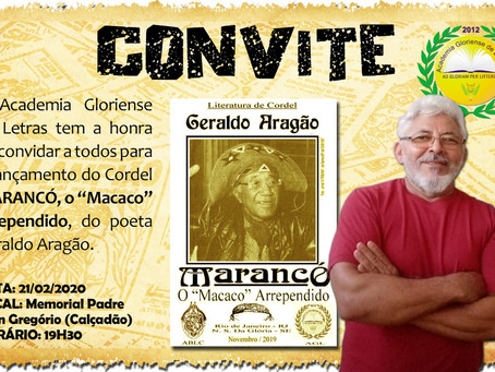"Lançamento do Cordel: MARANCÓ, o ""Macaco"" arrependido"