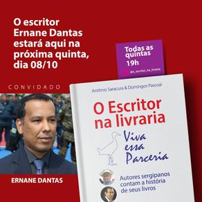 Daqui a pouco! Live: O Escritor na livraria com o convidado Ernane Dantas