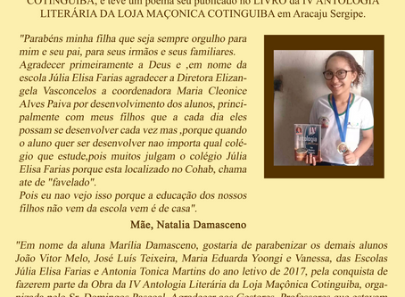 Parabéns, Marilia Damasceno