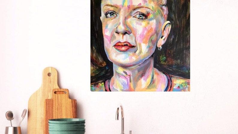 SHIRLEY | acrylic paint on box canvas | 61x46x4cm