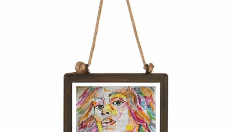 SOLANGE | watercolour and pen on paper | 13x13cm