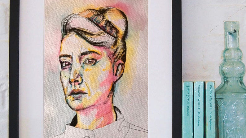 KATHLEEN | watercolour and pen on paper | 20x30cm