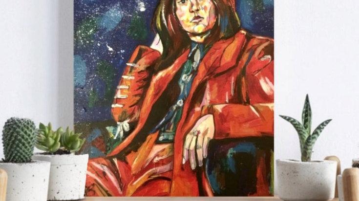 COURTNEY   acrylic paint on box canvas   41x29x5cm