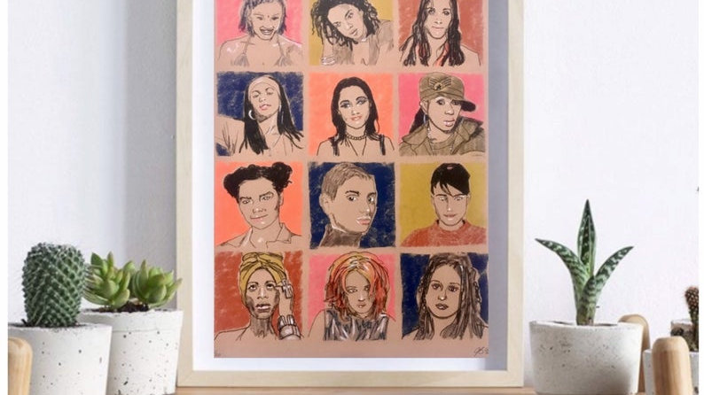 SHEROES of 90s MUSIC | A3 riso print