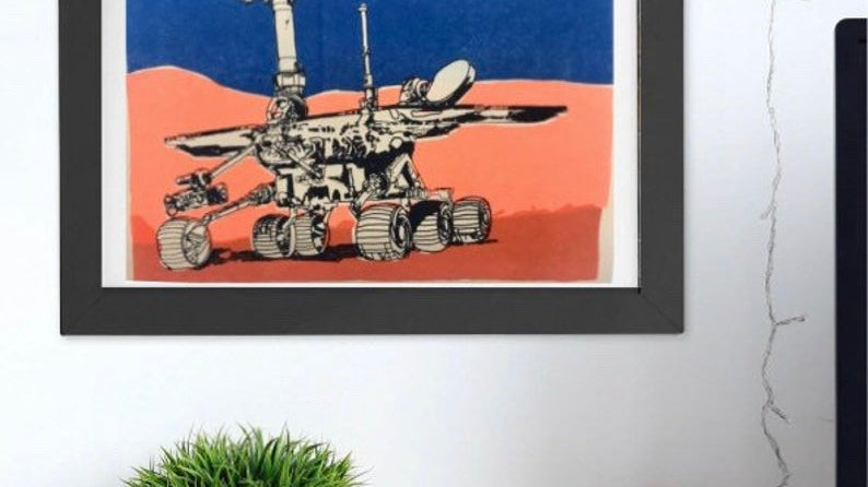 EMO MARS ROVER   19x25cm print