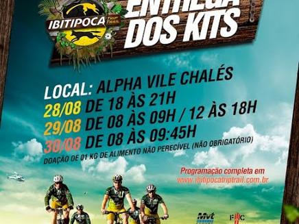 Fiquem ligados nos horários de entrega dos KITS para o Ibitipoca Trip Trail