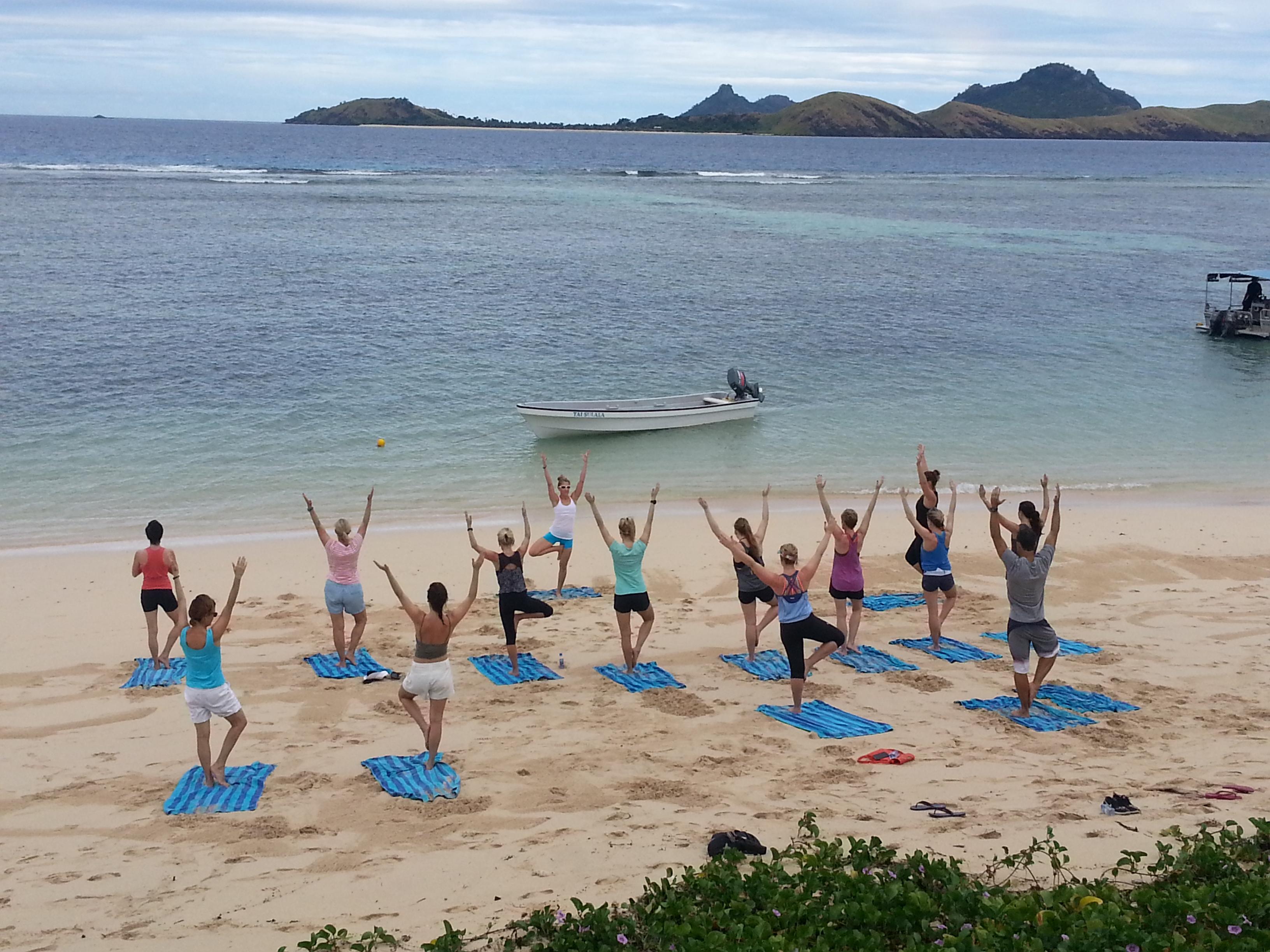 Beach Yoga in Fiji