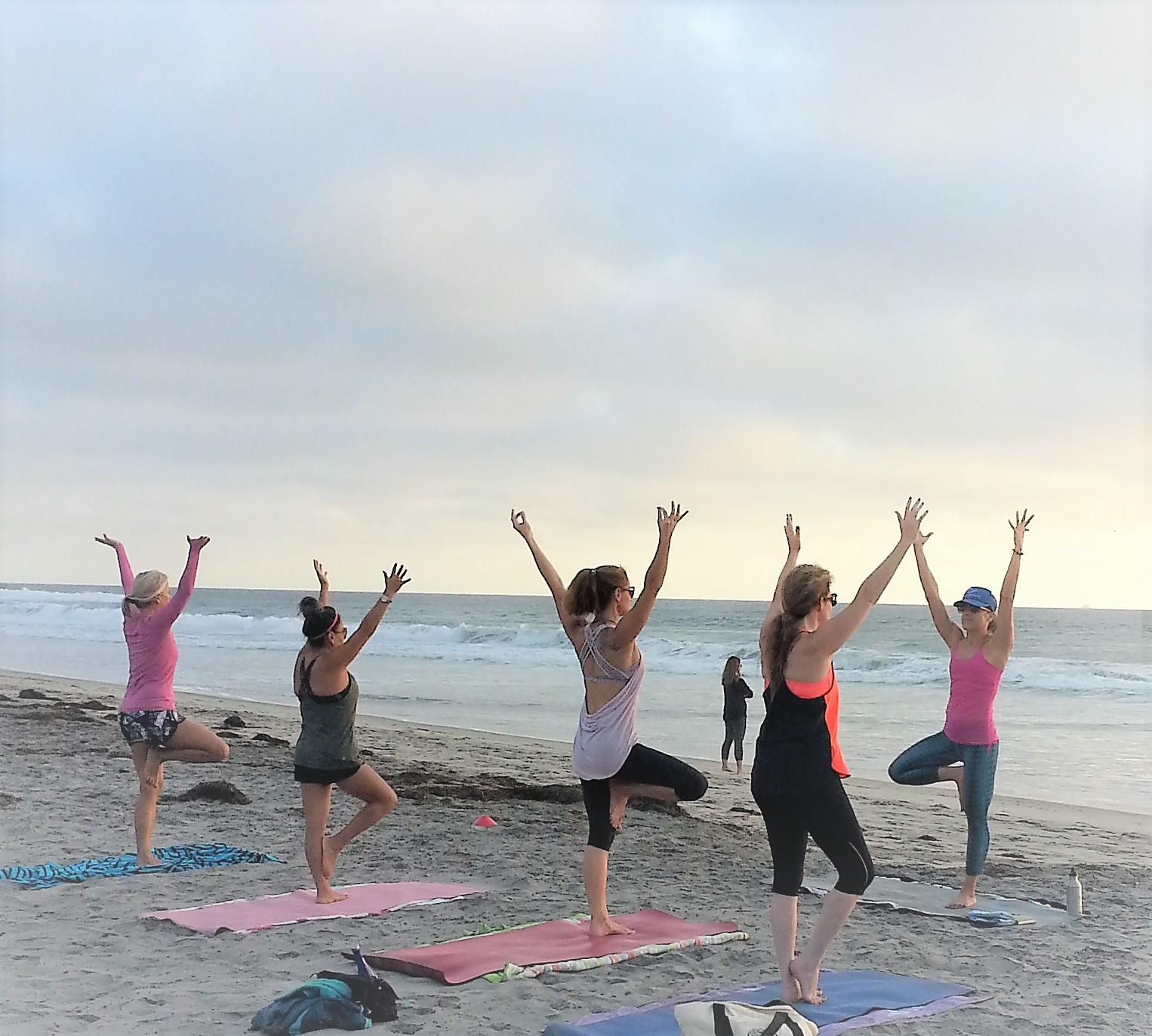 Group Beach Yoga