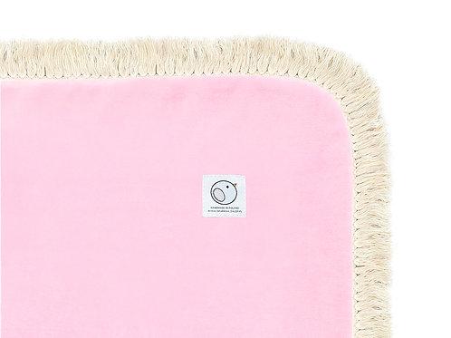 Welurowy kocyk dziecięcy / BOHO Collection 75x100cm / baby pink