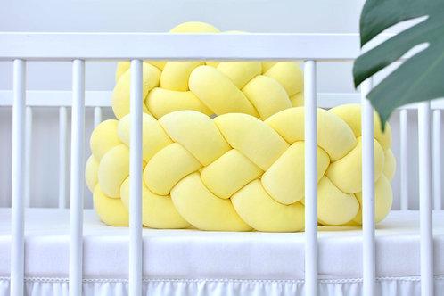 Ochraniacz do łóżeczka WARKOCZ 4 pasma VELVET