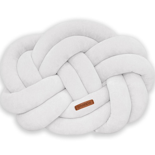 Poduszka supeł PRECEL/ knot pillow / knot cushion - jasnoszary