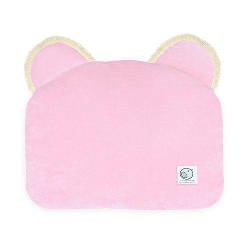 Poduszka MIŚ welurowa / Dots Collection 34x42xcm / baby pink