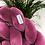 Thumbnail: Ochraniacz do łóżeczka WARKOCZ pleciony VELVET mus jagodowy