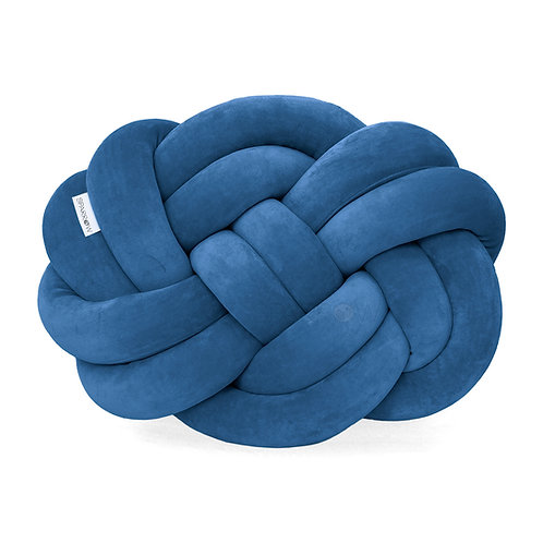 Poduszka supeł PRECEL/ knot pillow / knot cushion - petrol blue