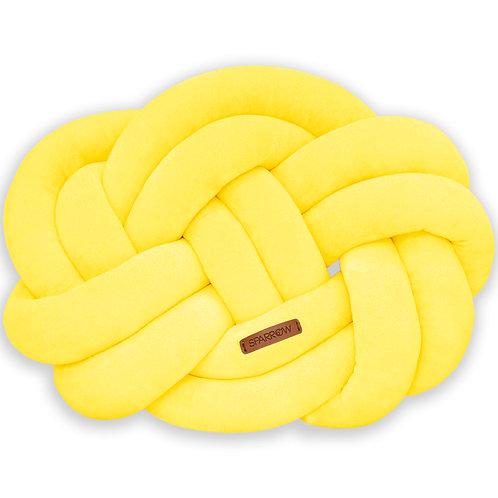 Poduszka supeł PRECEL/ knot pillow / knot cushion -żółty