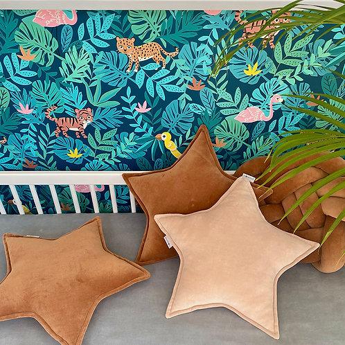 Poduszka gwiazda / star pillow - welur bawełniany