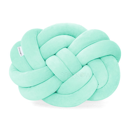 Poduszka supeł PRECEL/ knot pillow / knot cushion - mięta
