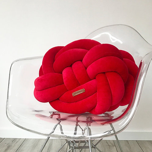Poduszka supeł PRECEL/ knot pillow / knot cushion - czerwona