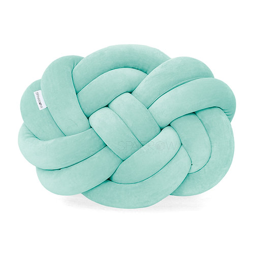 Poduszka supeł PRECEL/ knot pillow / knot cushion - lazur