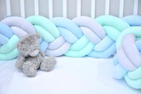 Ochraniacz do łóżeczka warkocz