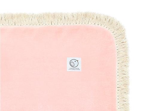 Welurowy kocyk dziecięcy / BOHO Collection 75x100cm / brzoskwiniowy róż