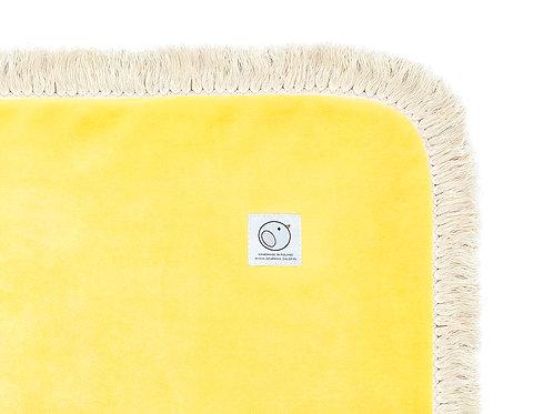 Welurowy kocyk dziecięcy / BOHO Collection 75x100cm / żółty
