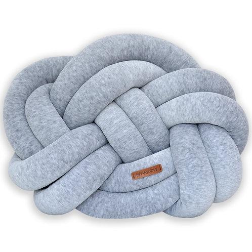 Poduszka supeł PRECEL/ knot pillow / knot cushion - szary melanż