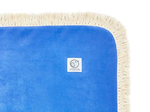 Welurowy kocyk dziecięcy / BOHO Collection 75x100cm / niebieski