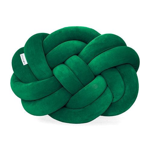 Poduszka supeł PRECEL/ knot pillow / knot cushion - butelkowa zieleń