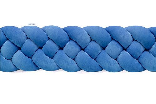 Ochraniacz do łóżeczka warkocz 4 pasma petrol blue