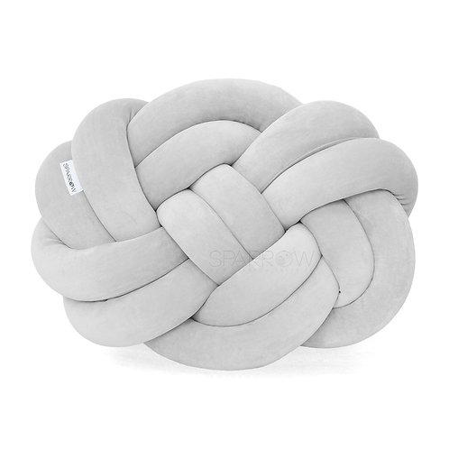 Poduszka supeł PRECEL/ knot pillow / knot cushion - jasny szary