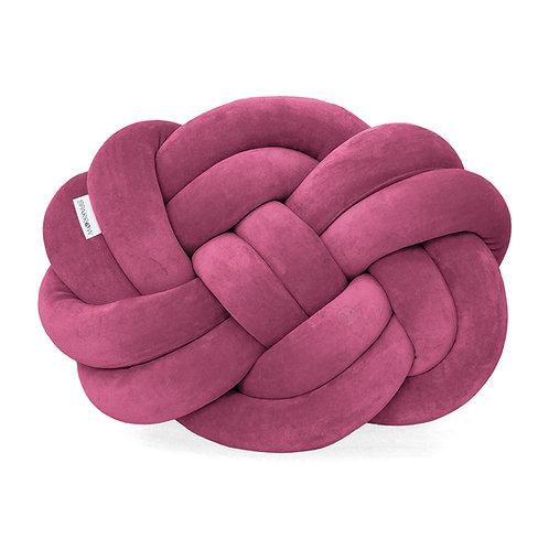 Poduszka supeł PRECEL/ knot pillow / knot cushion - mus jagodowy