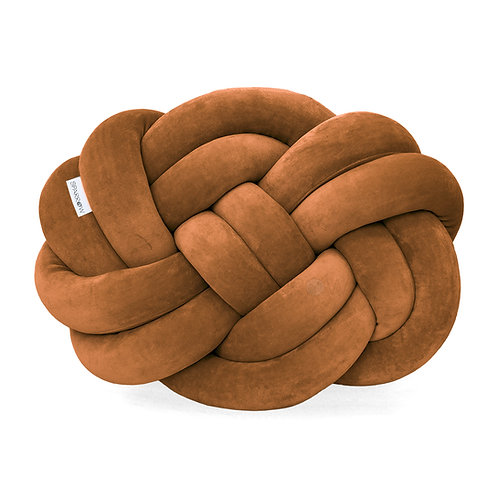 Poduszka supeł PRECEL/ knot pillow / knot cushion - cynamon