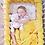 Thumbnail: Ochraniacz do łóżeczka WARKOCZ pleciony VELVET żółty