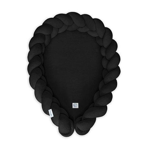 Kokon niemowlęcy warkocz /Babynest braid 2w1 czarny