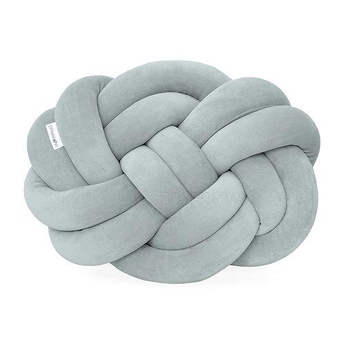 Poduszka supeł PRECEL/ knot pillow / knot cushion - klasyczny szary