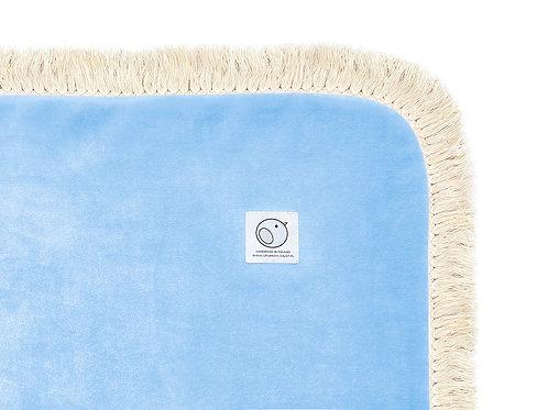 Welurowy kocyk dziecięcy / BOHO Collection 75x100cm / baby blue
